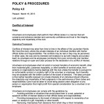 04.0 A Policy Conflict of Interest