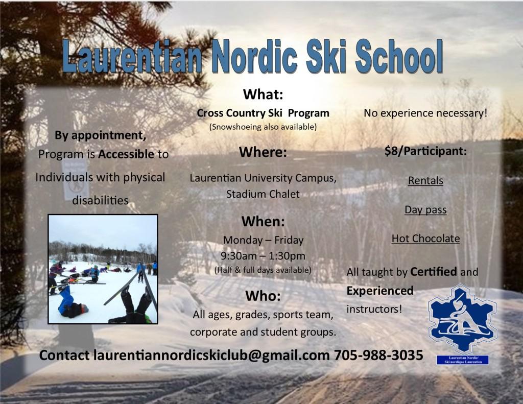 LNSC Ski School 2018 poster